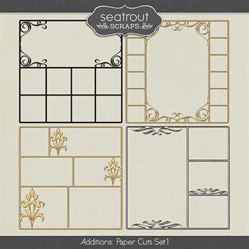 Paper Cuts Set 1 Digital Art - Digital Scrapbooking Kits