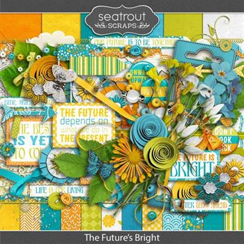 The Future's Bright Digital Art - Digital Scrapbooking Kits