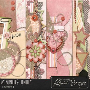 My Memories - January -stacked Borders