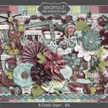 A Fresh Start Kit Digital Art - Digital Scrapbooking Kits