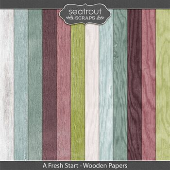 A Fresh Start Wooden Papers
