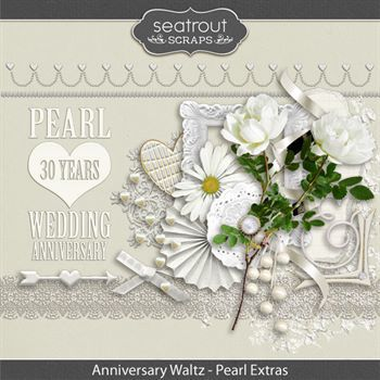 Anniversary Waltz - Pearl 30th Add On Embellishments