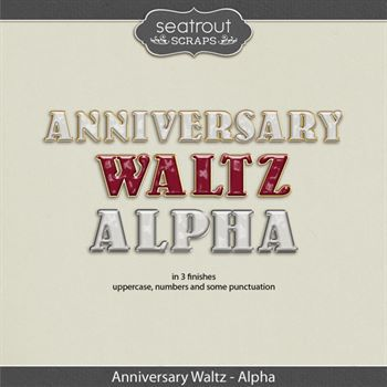 Anniversary Waltz Alpha Digital Art - Digital Scrapbooking Kits
