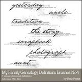 My Family Genealogy Definitions Brushes And Stamps No. 04