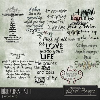 Bible Verses Set 1