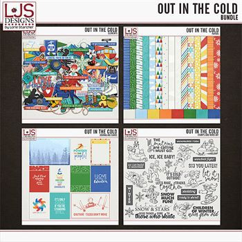 Out In The Cold - Bundle Digital Art - Digital Scrapbooking Kits
