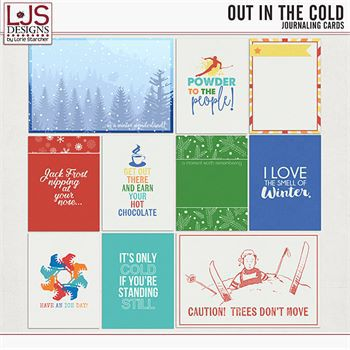 Out In The Cold - Journal Cards Digital Art - Digital Scrapbooking Kits