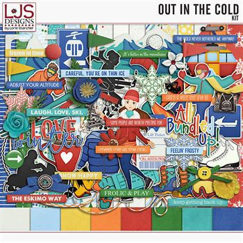Out In The Cold - Kit Digital Art - Digital Scrapbooking Kits