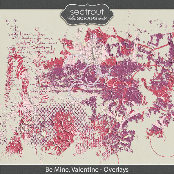 Be Mine, Valentine Overlays Digital Art - Digital Scrapbooking Kits