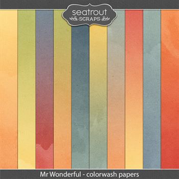 Mr Wonderful Colorwash Papers