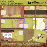 Asian Spring 12 X 12 Album Pak