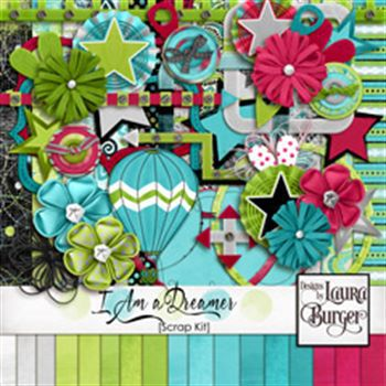 I Am A Dreamer Scrap Kit