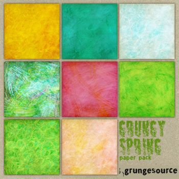 Grungy Spring Paper Pack