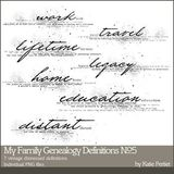 My Family Genealogy Definitions Brushes And Stamps No. 05
