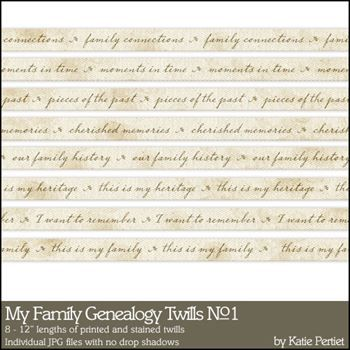 My Family Genealogy Twills No. 01