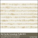 My Family Genealogy Twills No. 01