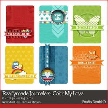 Readymade Journalers Color My Love