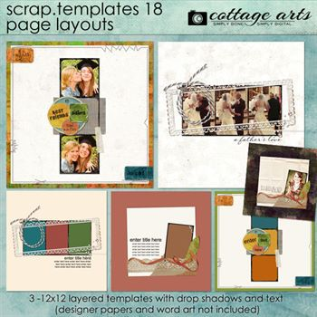 12 X 12 Scrap Templates 18 - Page Layouts