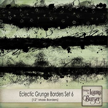 Eclectic Grunge Borders Set 6