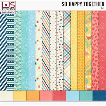 So Happy Together - Papers Digital Art - Digital Scrapbooking Kits