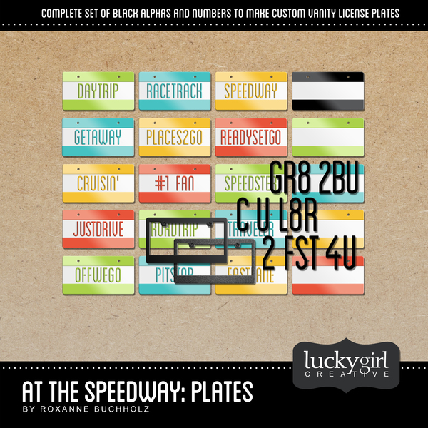 At The Speedway Plates