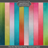 {you Are} My Favorite Thing Colorwash Papers