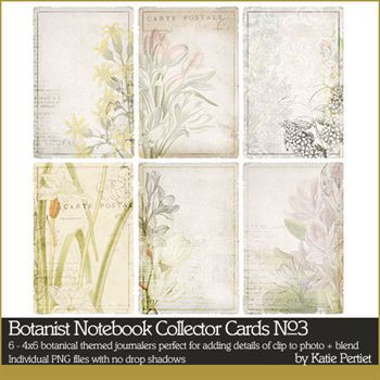 Botanist Notebook Collector Cards No. 03