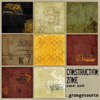 Construction Zone Paper Pack