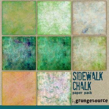 Sidewalk Chalk Paper Pack