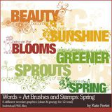 Words + Art Brushes And Stamps Spring