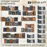 Vintage Typeset Scrap.words