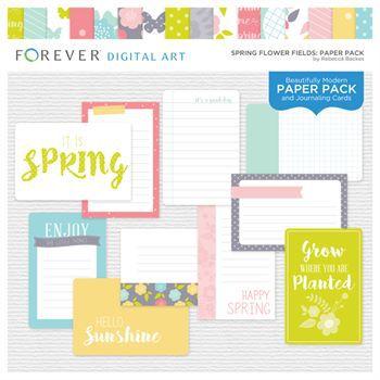 Spring Flower Fields Paper Pack