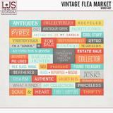 Vintage Flea Market - Word Art