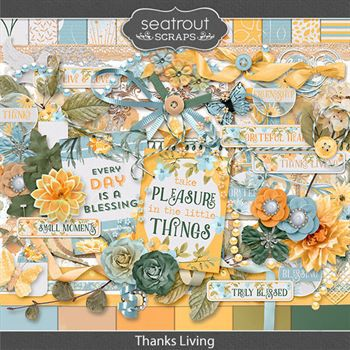 Thanks Living Digital Art - Digital Scrapbooking Kits