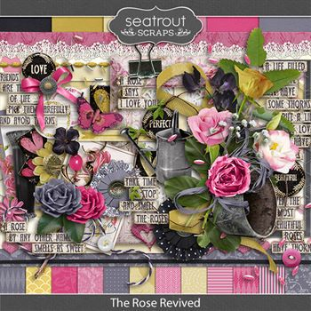 The Rose Revived Digital Art - Digital Scrapbooking Kits