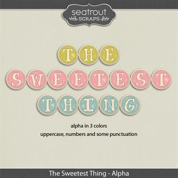 The Sweetest Thing Alphas Digital Art - Digital Scrapbooking Kits