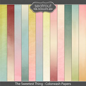 The Sweetest Thing Colorwash Papers Digital Art - Digital Scrapbooking Kits