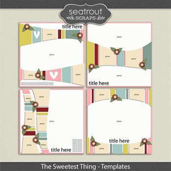 The Sweetest Thing Templates Digital Art - Digital Scrapbooking Kits