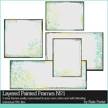 Layered Painted Frames No. 01