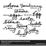Typed And Scripted Spring Brushes And Stamps