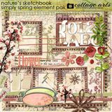 Nature's Sketchbook - Simply Spring Element Pak