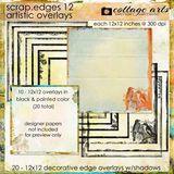 Scrap.edges 12 - 12x12 Artistic Overlays
