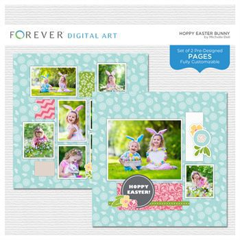 Hoppy Easter Bunny Pre-designed Pages