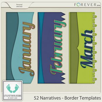52 Narratives - Monthly Borders Jan - March