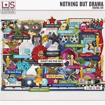 Nothing But Drama - Elements Digital Art - Digital Scrapbooking Kits