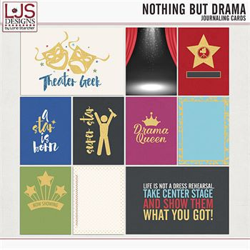 Nothing But Drama - Journal Cards Digital Art - Digital Scrapbooking Kits