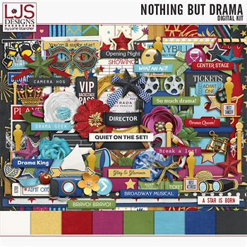 Nothing But Drama - Kit Digital Art - Digital Scrapbooking Kits