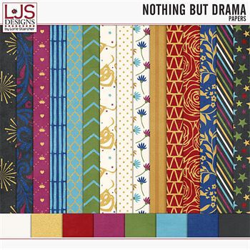 Nothing But Drama - Papers Digital Art - Digital Scrapbooking Kits