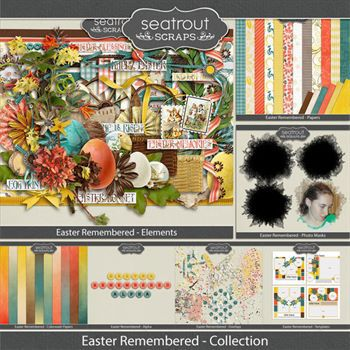 Easter Remembered Collection Digital Art - Digital Scrapbooking Kits