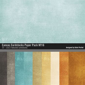 Canvas Cardstocks Paper Pack No. 16